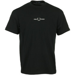 textil Hombre Camisetas manga corta Fred Perry Embroidered T-Shirt Negro