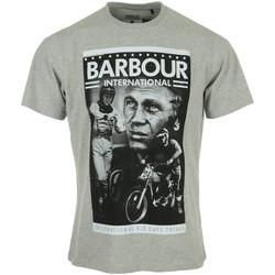 textil Hombre Camisetas manga corta Barbour Combo SMQ Tee Gris