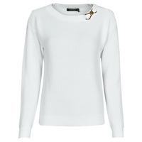 textil Mujer Jerséis Lauren Ralph Lauren YAMINAH-LONG SLEEVE-SWEATER Blanco
