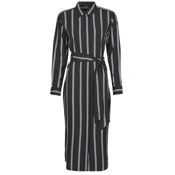 textil Mujer Vestidos largos Lauren Ralph Lauren RYNETTA-LONG SLEEVE-CASUAL DRESS Negro