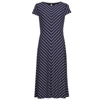 textil Mujer Vestidos largos Lauren Ralph Lauren PIPPA-CAP SLEEVE-DAY DRESS Azul