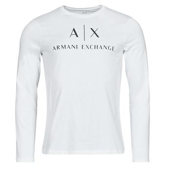 textil Hombre Camisetas manga larga Armani Exchange 8NZTCH Blanco