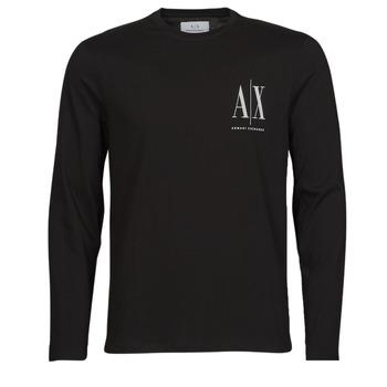 textil Hombre Camisetas manga larga Armani Exchange 8NZTPL Negro