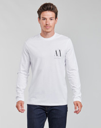 textil Hombre Camisetas manga larga Armani Exchange 8NZTPL Blanco
