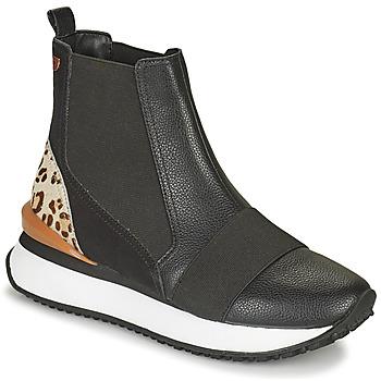 Zapatos Mujer Zapatillas altas Gioseppo LUNNER Negro / Leopardo