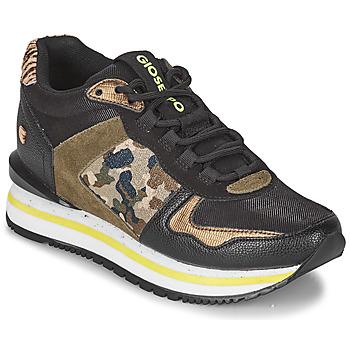 Zapatos Mujer Zapatillas bajas Gioseppo GRAZ Negro / Kaki