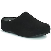 Zapatos Mujer Zuecos (Clogs) FitFlop SHUV FELT Negro