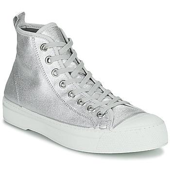 Zapatos Mujer Zapatillas bajas Bensimon STELLA B79 SHINY CANVAS Plata