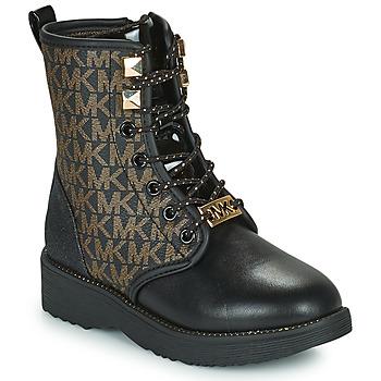 Zapatos Niña Botas de caña baja MICHAEL Michael Kors HASKELL Negro / Oro