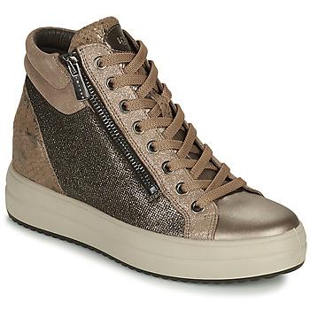 Zapatos Mujer Zapatillas altas IgI&CO DONNA SHIRLEY Beige / Oro