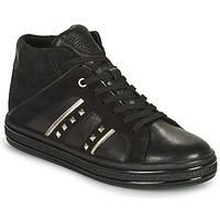 Zapatos Mujer Zapatillas altas Geox LEELU Negro / Plata
