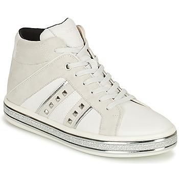 Zapatos Mujer Botas de caña baja Geox LEELU Blanco / Gris