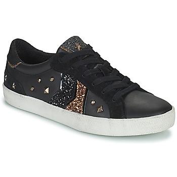 Zapatos Mujer Zapatillas bajas Geox WARLEY Negro / Oro