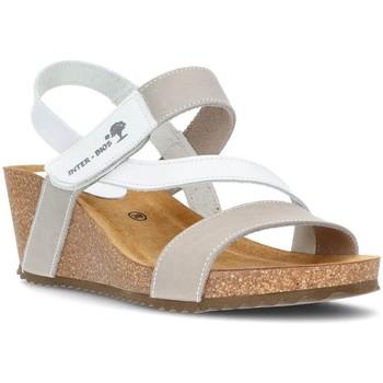 Zapatos Mujer Sandalias Interbios S S CUÑA 2019 BLANCO
