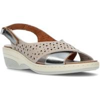 Zapatos Mujer Sandalias Interbios S  3023 ACERO