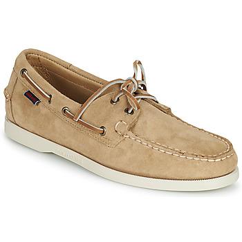 Zapatos Hombre Zapatos náuticos Sebago PORTLAND FLESH OUT Beige