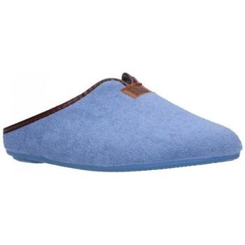 Zapatos Mujer Pantuflas Norteñas 9-191 Mujer Celeste bleu