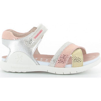 Zapatos Niña Sandalias Biomecanics 212173 A metalizado Argenté