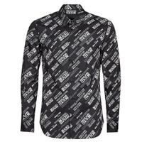 textil Hombre Camisas manga larga Versace Jeans Couture SLIM PRINT WARRANTY Negro / Blanco