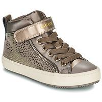Zapatos Niña Zapatillas altas Geox KALISPERA Oro