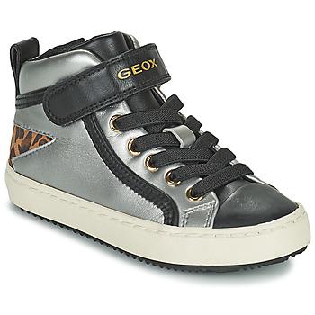 Zapatos Niña Zapatillas altas Geox KALISPERA Plata