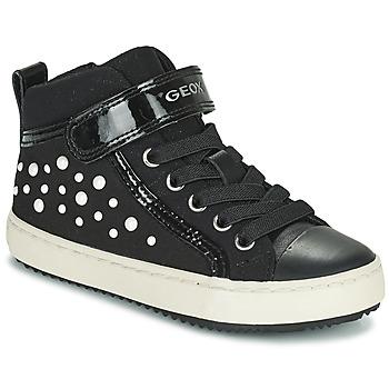 Zapatos Niña Zapatillas altas Geox KALISPERA Negro
