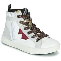 Zapatos Niña Zapatillas altas Geox SILENEX Blanco