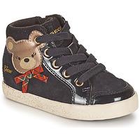 Zapatos Niña Zapatillas altas Geox KILWI Negro