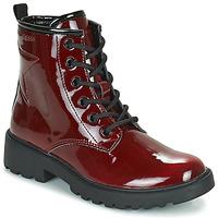 Zapatos Niña Botas de caña baja Geox CASEY Burdeo