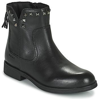 Zapatos Niña Botas de caña baja Geox AGATO Negro