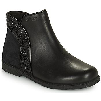 Zapatos Niña Botas de caña baja Geox SHAWNTEL Negro