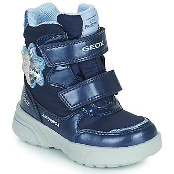 Zapatos Niña Botas de nieve Geox SVEGGEN ABX Marino