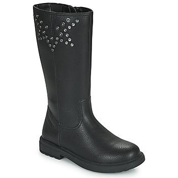 Zapatos Niña Botas urbanas Geox ECLAIR Negro