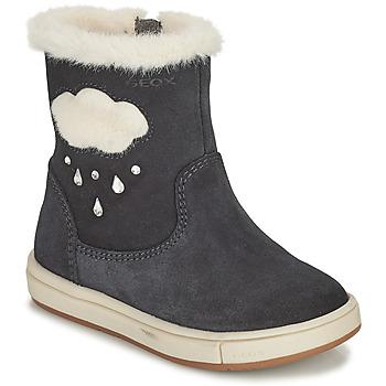 Zapatos Niña Botas urbanas Geox TROTTOLA Negro