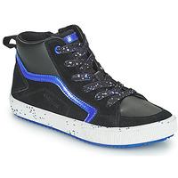 Zapatos Niño Zapatillas altas Geox ALONISSO Negro / Marino