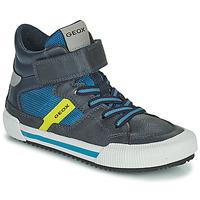 Zapatos Niño Zapatillas altas Geox ALONISSO Azul