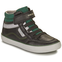 Zapatos Niño Zapatillas altas Geox GISL Negro / Verde