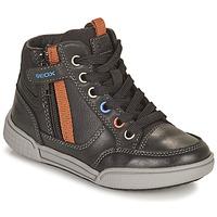 Zapatos Niño Zapatillas altas Geox POSEIDO Marrón
