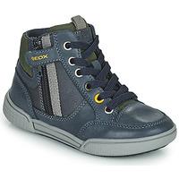 Zapatos Niño Zapatillas altas Geox POSEIDO Marino / Verde