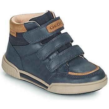 Zapatos Niño Zapatillas altas Geox POSEIDO Marino
