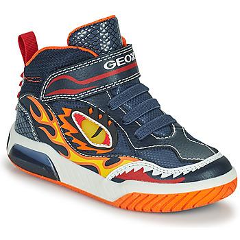 Zapatos Niño Zapatillas altas Geox INEK Marino / Rojo