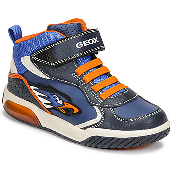 Zapatos Niño Zapatillas altas Geox INEK Azul / Naranja