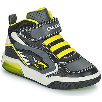 Zapatos Niño Zapatillas altas Geox INEK Gris / Verde