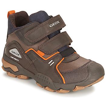 Zapatos Niño Botas de caña baja Geox BULLER ABX Marrón