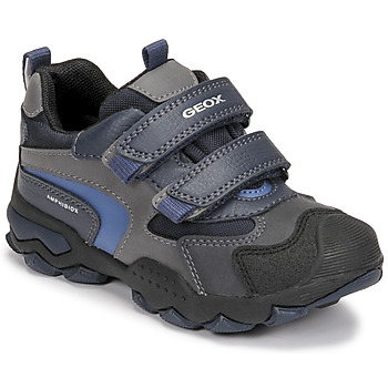 Zapatos Niño Botas de caña baja Geox BULLER ABX Marino / Gris