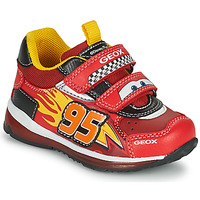 Zapatos Niño Zapatillas bajas Geox TODO Rojo / Amarillo