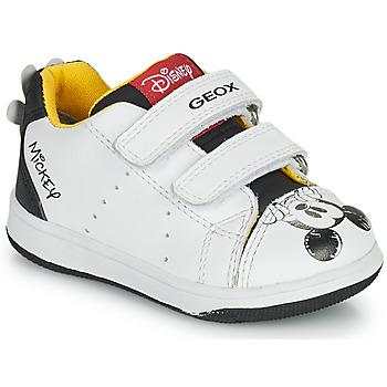 Zapatos Niño Zapatillas bajas Geox NEW FLICK Blanco / Negro / Rojo