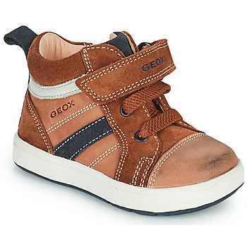 Zapatos Niño Zapatillas altas Geox BIGLIA Marrón