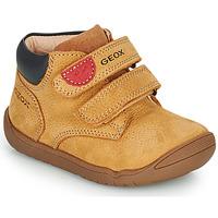 Zapatos Niño Botas de caña baja Geox MACCHIA Marrón