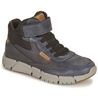 Zapatos Niño Botas de caña baja Geox FLEXYPER Marino / Camel